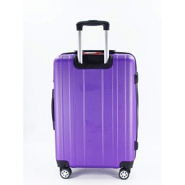 luggage travel trolley with 4 wheels 3 pieces set,purple 9924